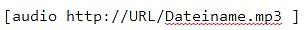 kurzcode audio